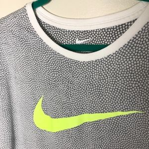 The Nike Tee - Green Swoosh and Speckled Print